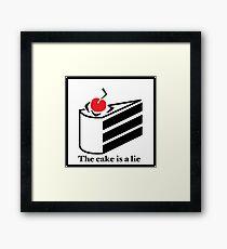 The cake is a lie Framed Print