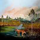 Dingo Country, Australia  by sandysartstudio