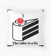 The cake is a lie Throw Pillow