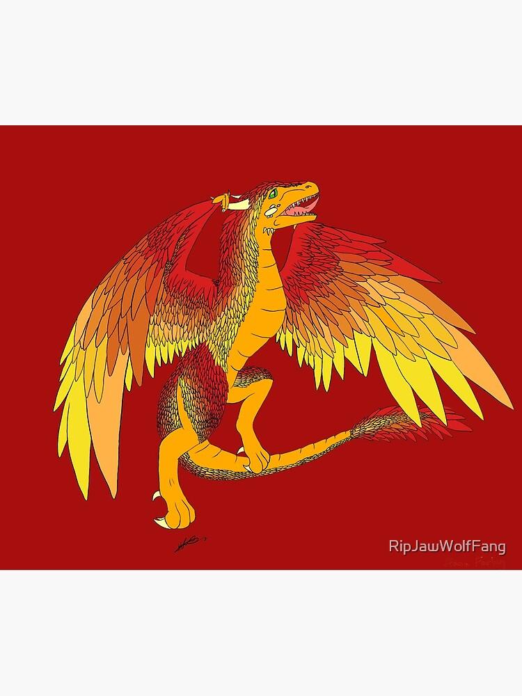 Fliegender goldener Wyvern von RipJawWolfFang