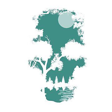 Wilderness Skull Silhouette  by BrandXTees