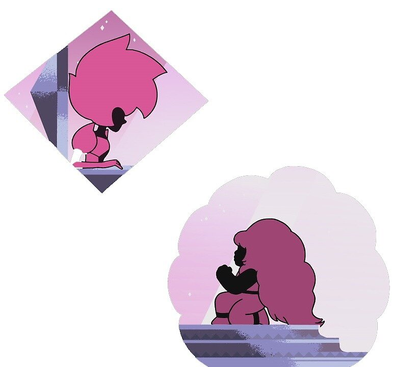Pink Diamond & Rose Quartz by campbellcamper