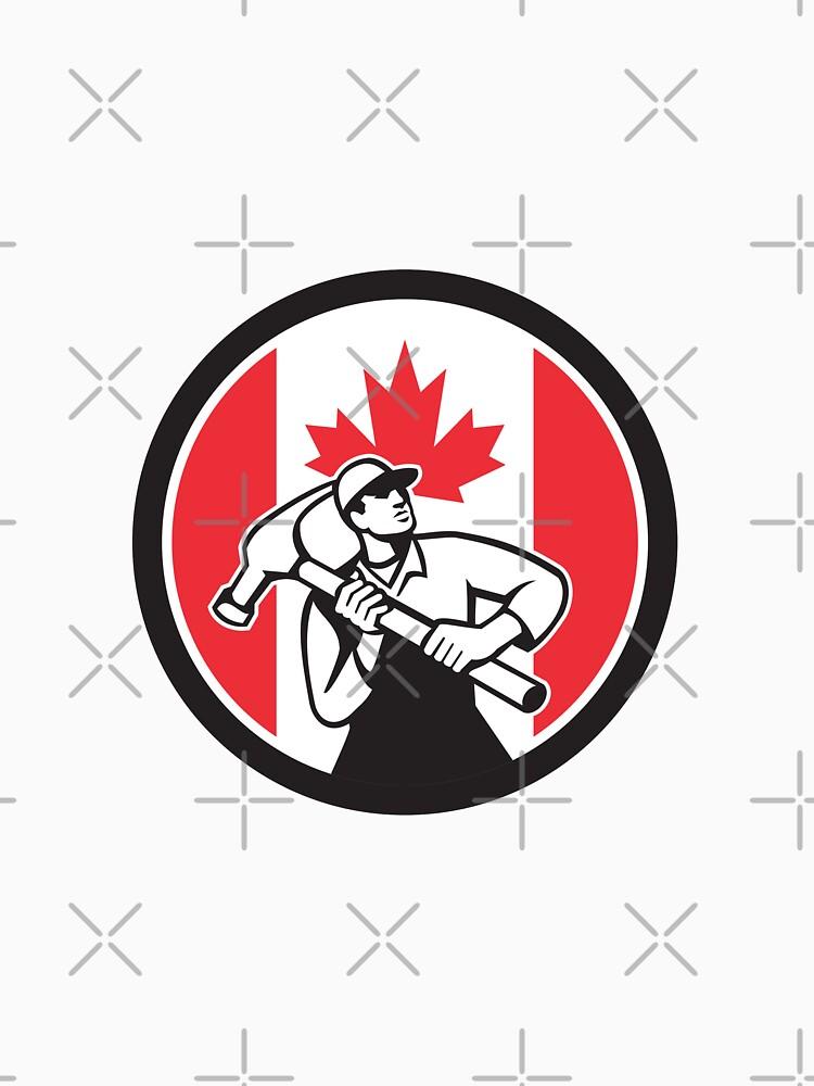 Canadian Handyman Canada Flag Icon by patrimonio