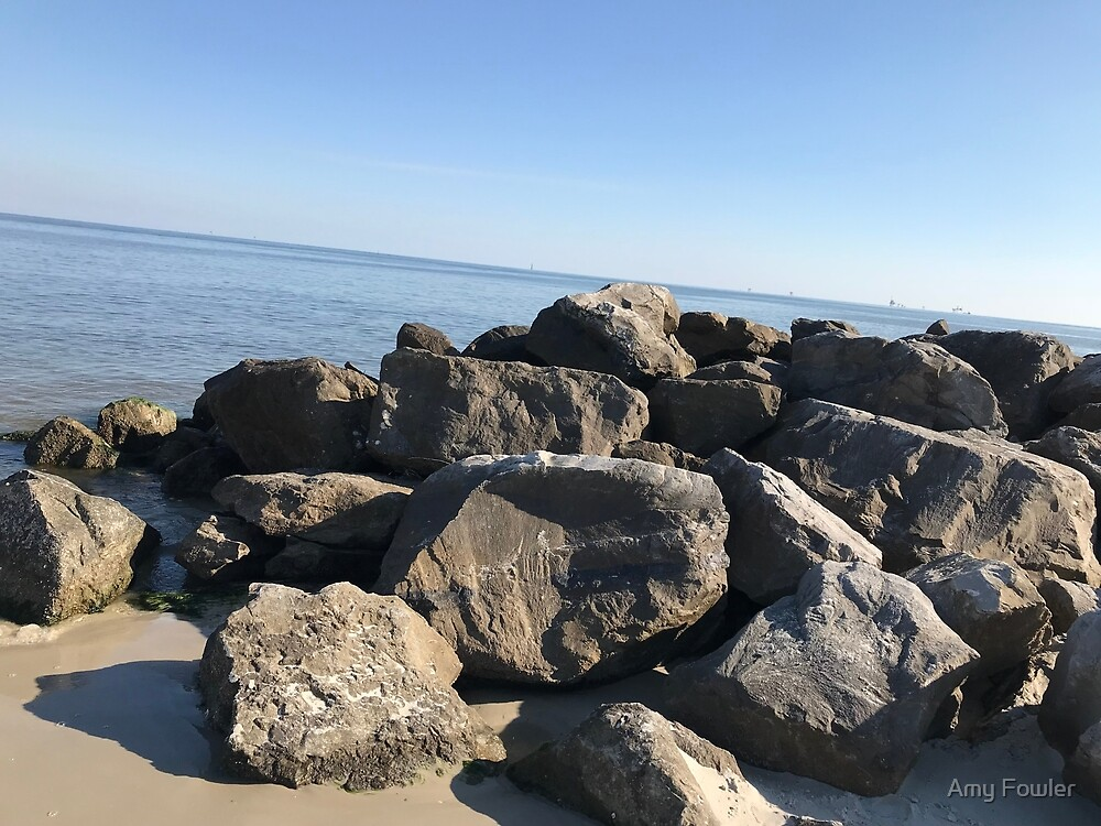 Rocky Seascape by Amy Fowler