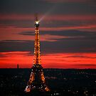 Eiffel Tower Sunset by swight
