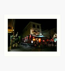 Night Streetscape Art Print