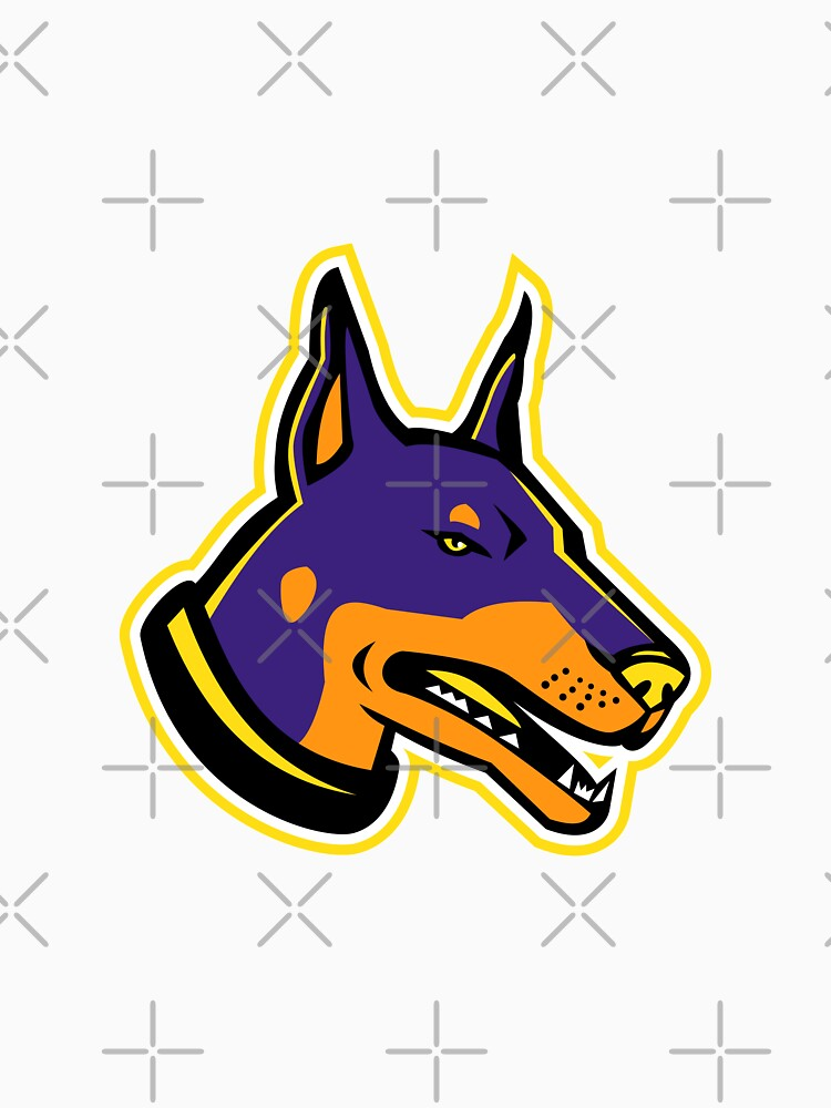Doberman Pinscher Dog Mascot by patrimonio