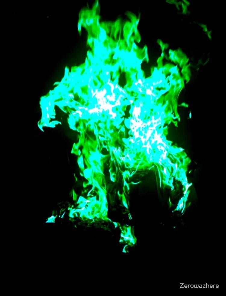 Mint flame by Zerowazhere