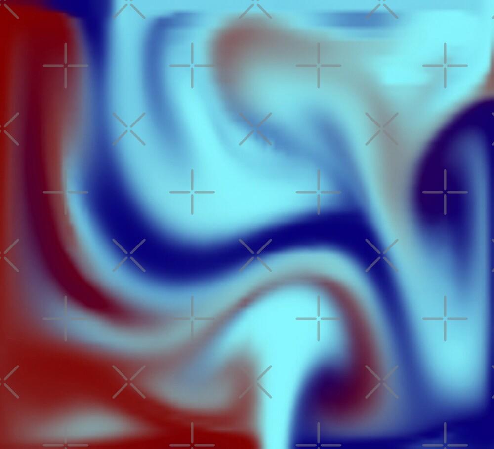 Psychedelic neon smoke blue red.  Smoke effects. by TJ-Allen