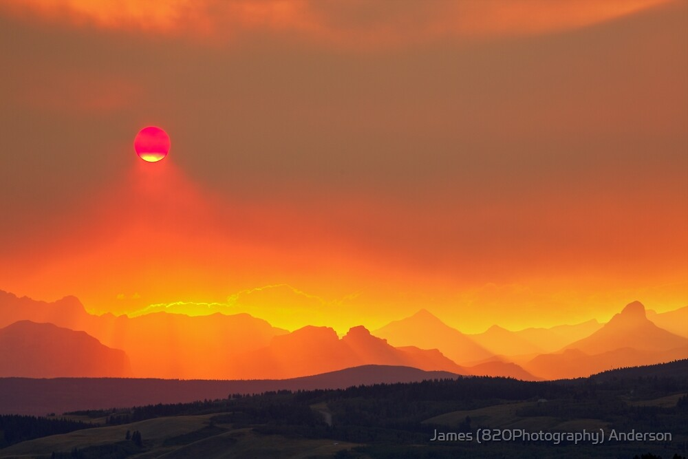 Fiery Sunset by James Anderson