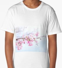 Japanese cherry-blossom tree, 'Oh-kanzakura' Long T-Shirt