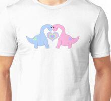 Adoring Apatosaurus Unisex T-Shirt