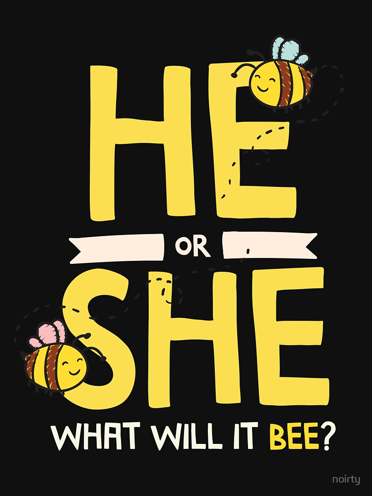He Or She What Will It Bee Gender Reveal Tshirt Baby Shower by noirty