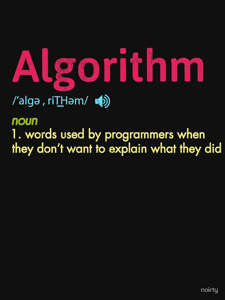 Funny Programmer Algorithm Tshirt Men Women Kids Tees by noirty