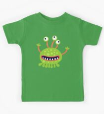 Cute Cartoon Animal Monster Kids Tee