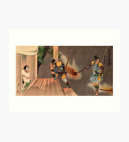 Samurai raid Art Print