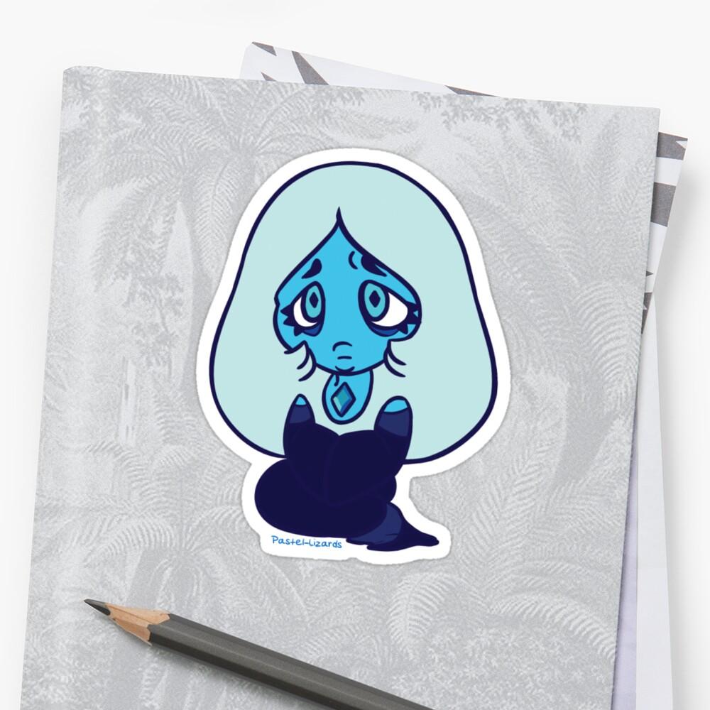 Blue Diamond Sticker by Pastel-Lizards