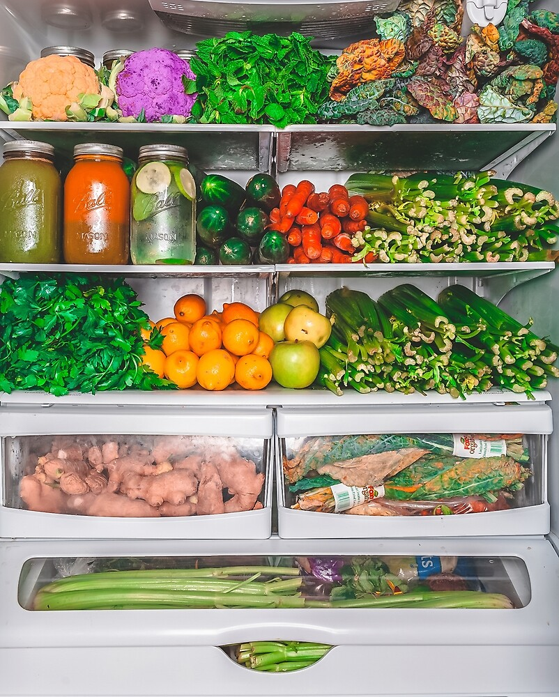My Refrigerator (No Lettering) by therusticvegan