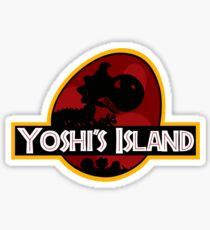 Yoshi's Island Jurassic Park Sticker