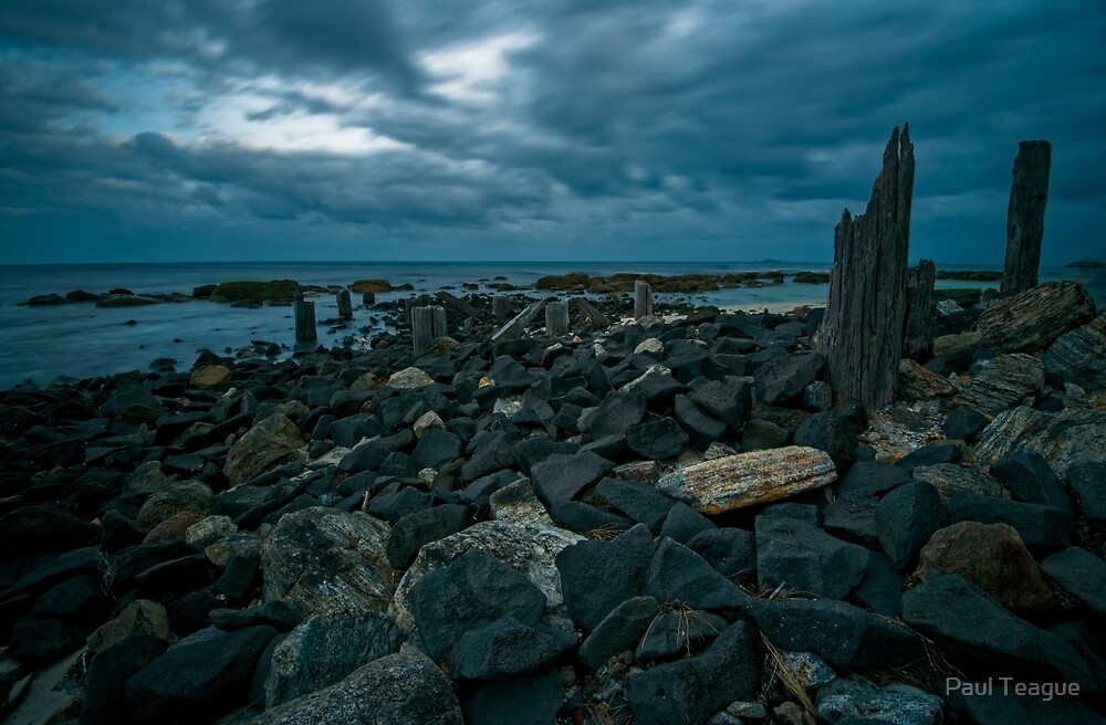Old Jetty Ruins V3 by Paul Teague