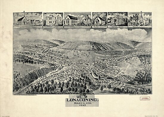 Aerial View of Lonaconing, Maryland (1905) by allhistory