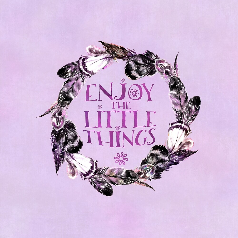 Enjoy The Little Things Watercolor Typography by artsandsoul