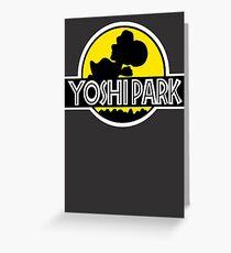 Yoshi's Island Jurassic Park Greeting Card