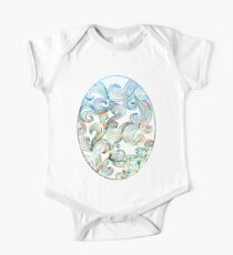 Abstract Ocean Waves One Piece - Short Sleeve