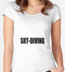 sky diving Women's Fitted Scoop T-Shirt