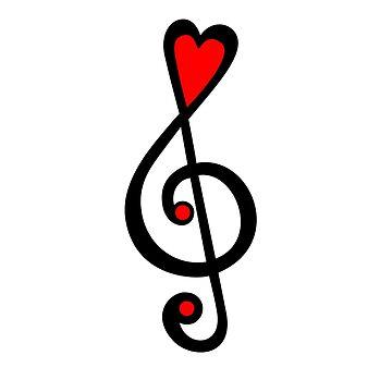 MUSIC CLEF HEART, Amor, Música, Clave de sol, Clásico de boom-art