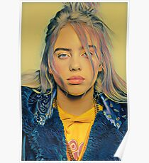 Billie Eilish Painting Poster