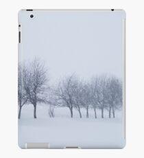 Trees in Snowstorm iPad Case/Skin