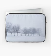 Trees in Snowstorm Laptop Sleeve