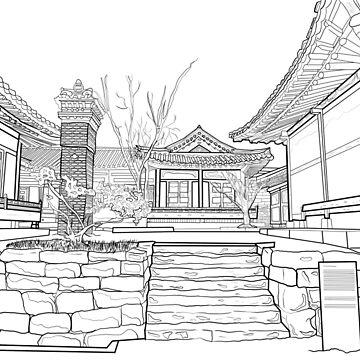 South Korea scenery black & white by nanaminhae