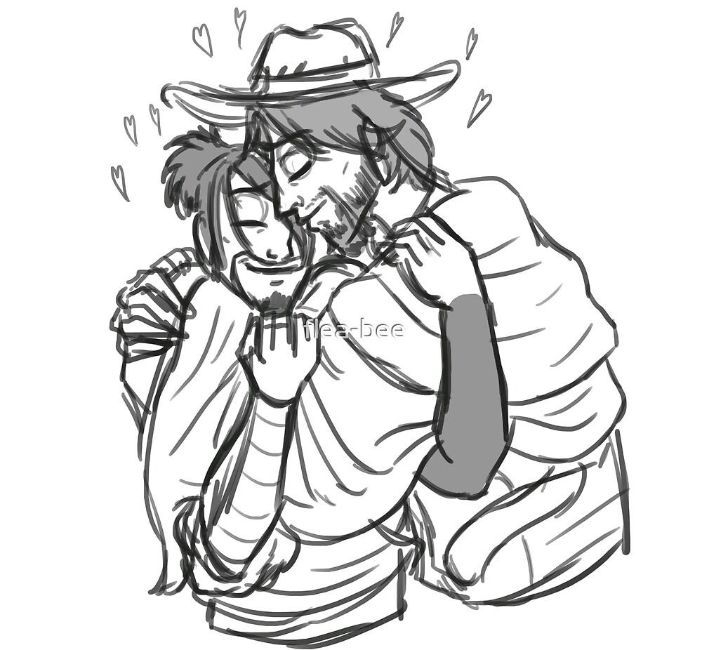 Hug  by flea-bee
