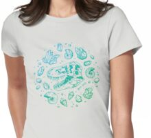Geo-rex Vortex (blue-green gradient) Womens Fitted T-Shirt