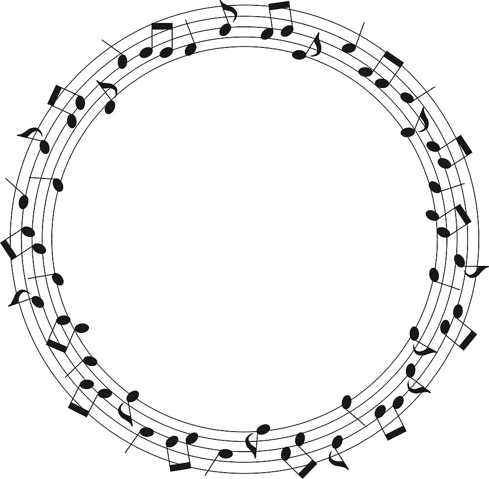 Musical Note Circle by suivezmoi