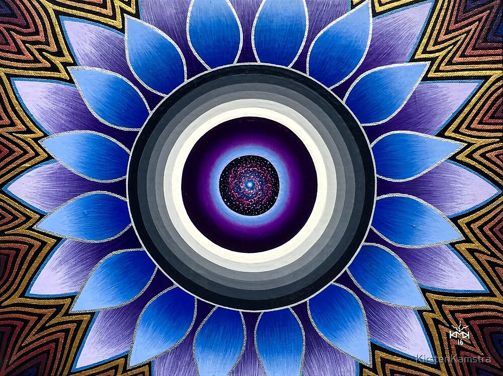 Birth of a Vision - Psychedelic Third Eye Flower by KirstenKamstra