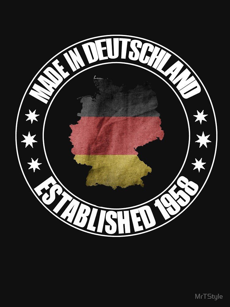 Birthday 1958 born in Germany beautiful world champion shirt as a gift by MrTStyle