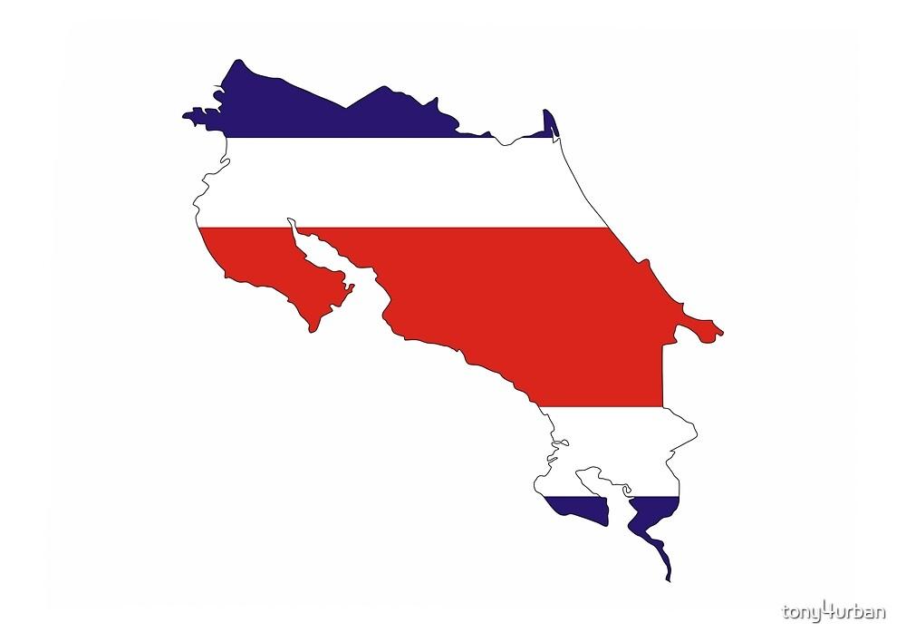 costa rica flag map by tony4urban