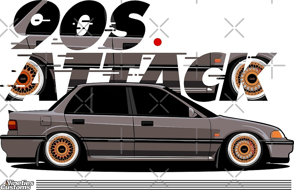 Civic EF 90s Attack by Ninetiescustoms