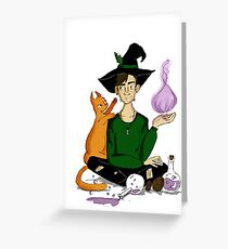 Oswald the witch Greeting Card