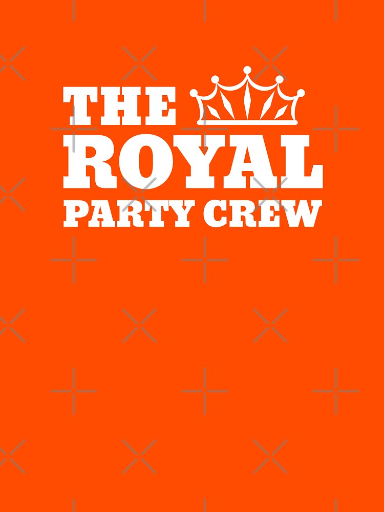 Koningsdag Kleding | The Royal Party Crew by Team150Designz