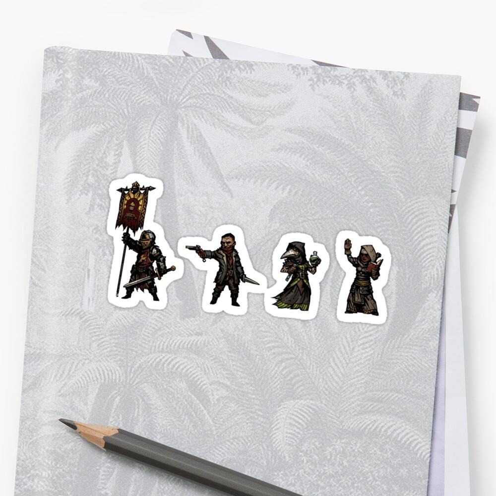 Darkest Dungeon Heroes Sticker pack # 2 by Rigar
