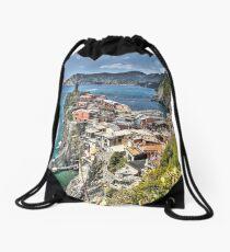Vernazza Back View Drawstring Bag