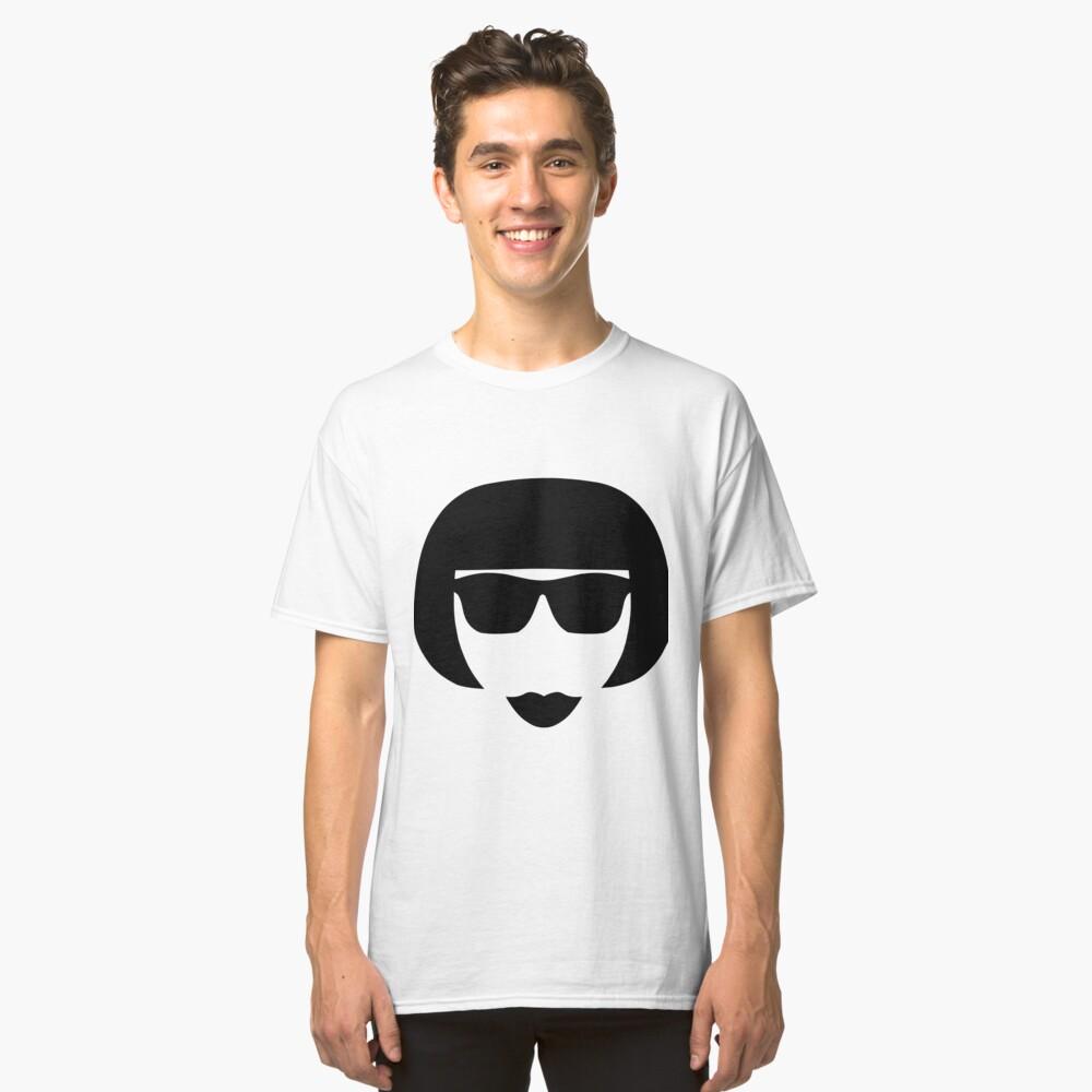 Retro Vintage Punk Girl Classic T-Shirt Front