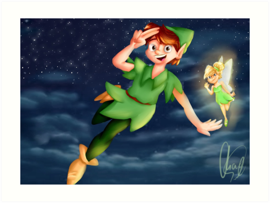 Peter Pan (PRINT) by Peter Houtman