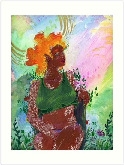 Spring Goddess • Brigid by MEPeasley