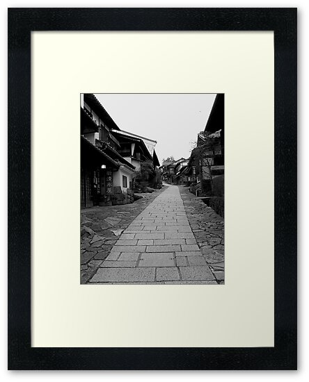 Magome-Juku in monochrome, 2015 by jackchan