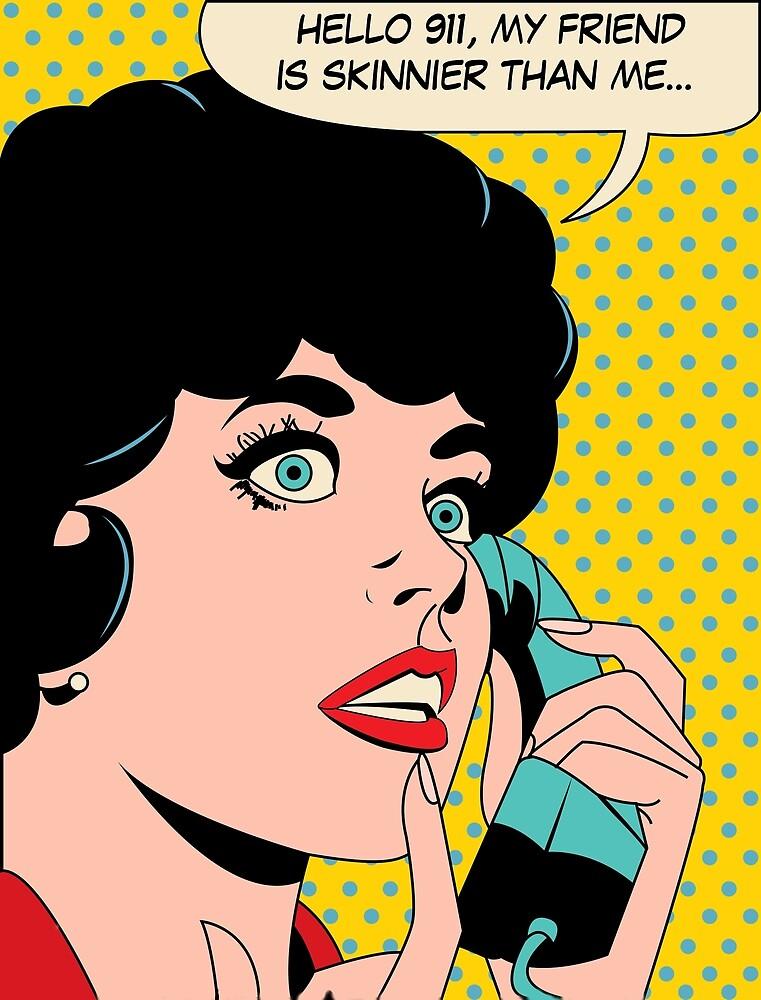 Hello 911, my friend is skinnier than me! by AmorOmniaVincit